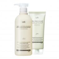1+1 Шампунь Triplex3 Natural Shampoo + Маска Tea Tree Scalp Clinic Hair Pack 530ml+200g